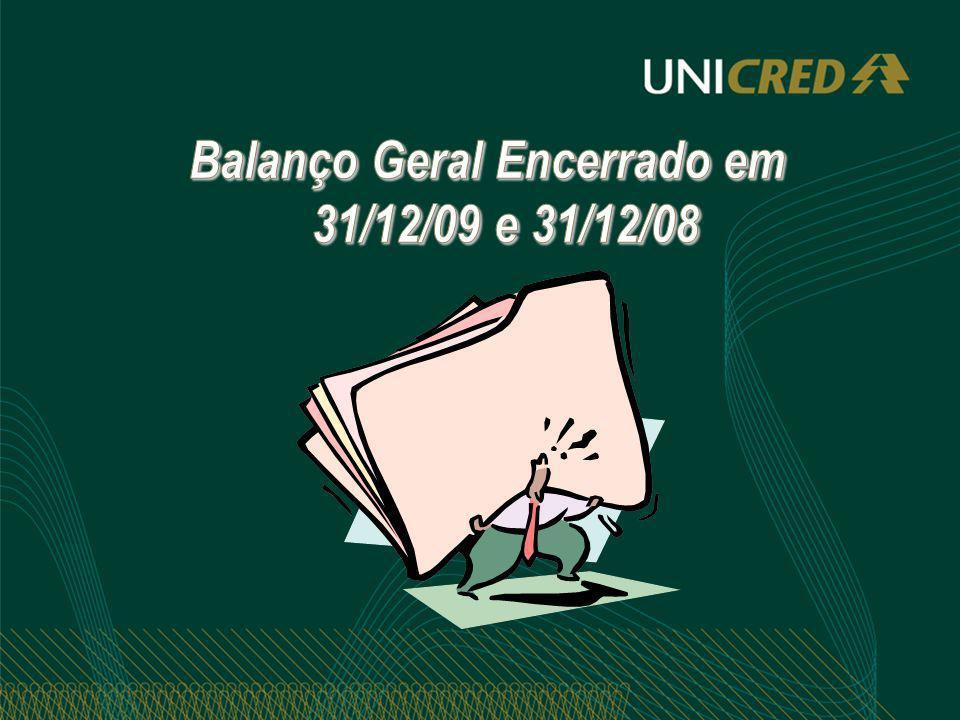 Balanço Geral Encerrado em 31/12/09 e 31/12/08