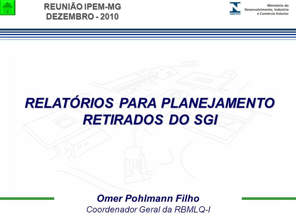 RELATÓRIOS PARA PLANEJAMENTO RETIRADOS DO SGI