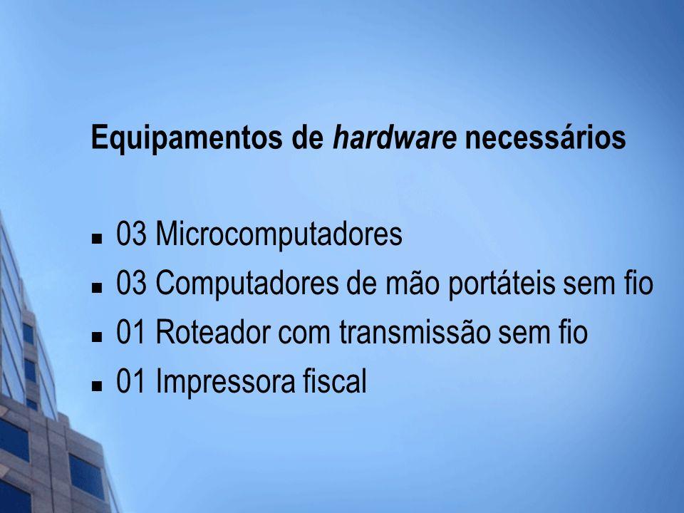Equipamentos de hardware necessários