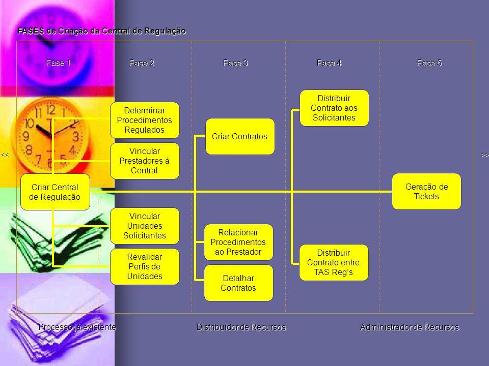 FASES de Criação da Central de Regulação