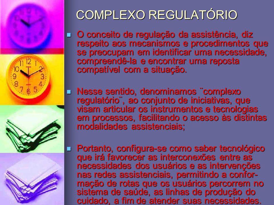 COMPLEXO REGULATÓRIO