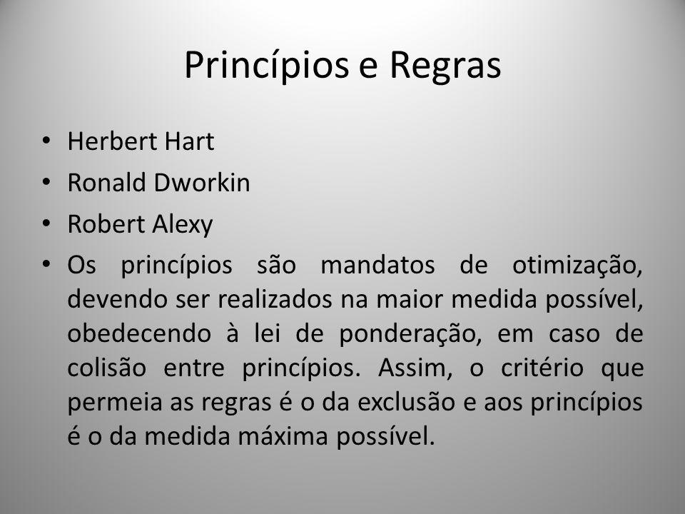 Princípios e Regras Herbert Hart Ronald Dworkin Robert Alexy
