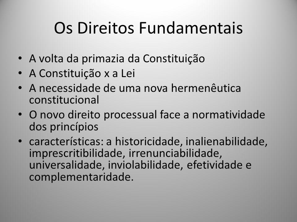 Os Direitos Fundamentais