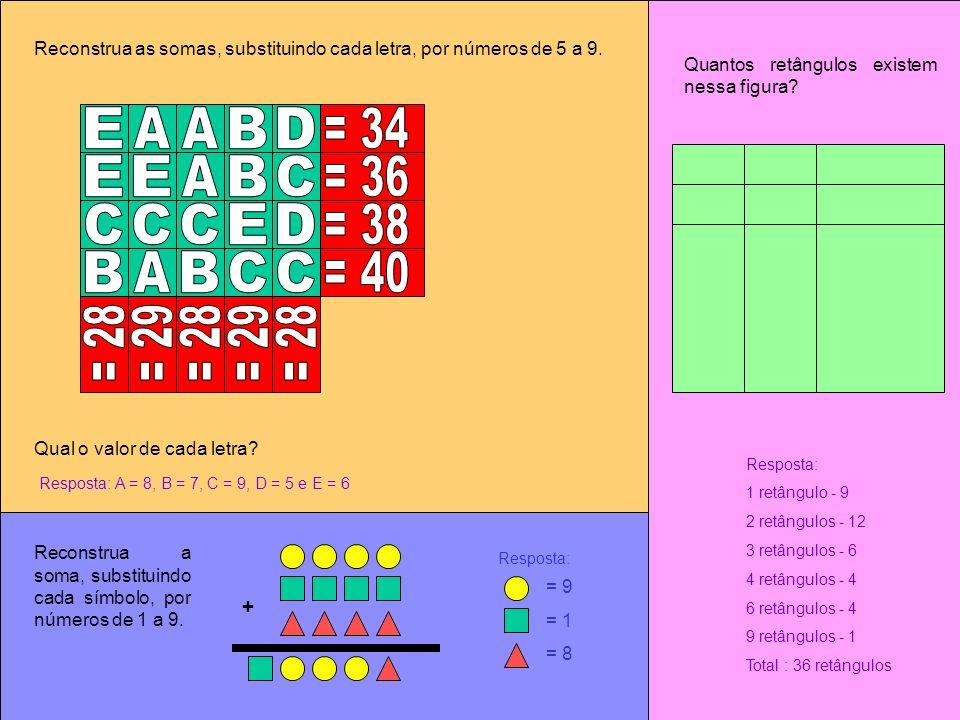 E A A B D = 34 E E A B C = 36 C C C E D = 38 B A B C C = 40 = 28 = 29