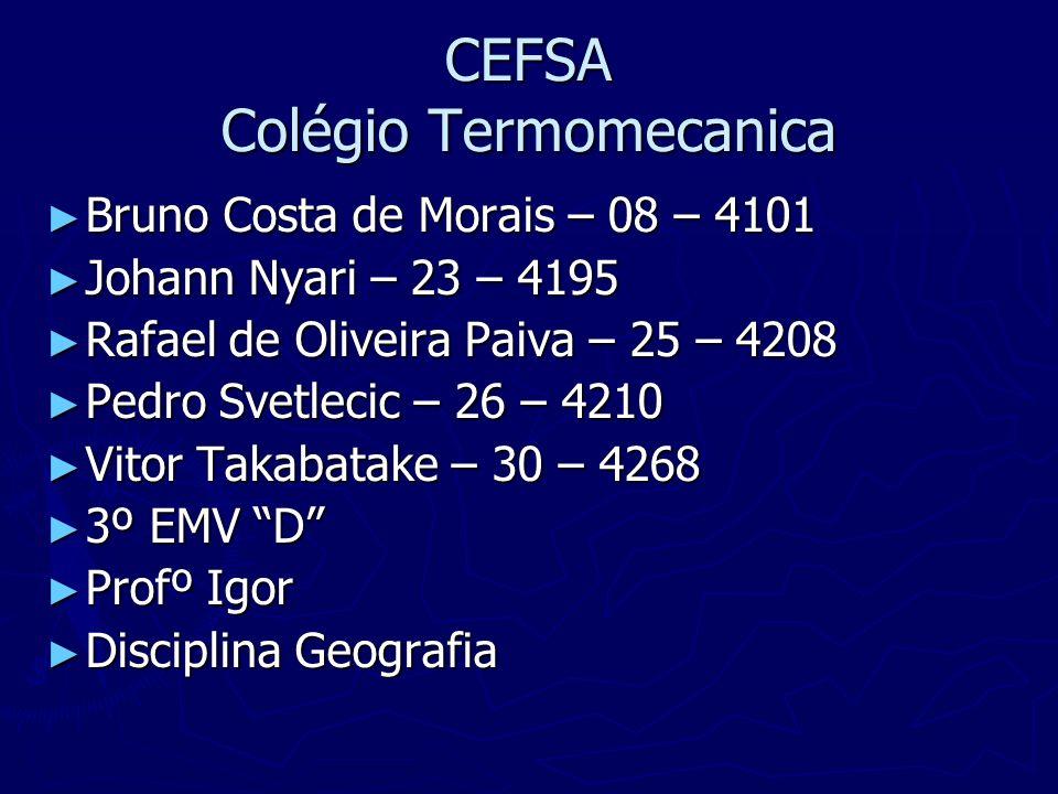 CEFSA Colégio Termomecanica