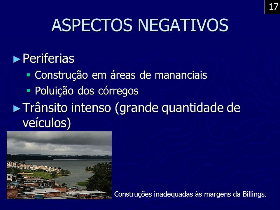 ASPECTOS NEGATIVOS Periferias