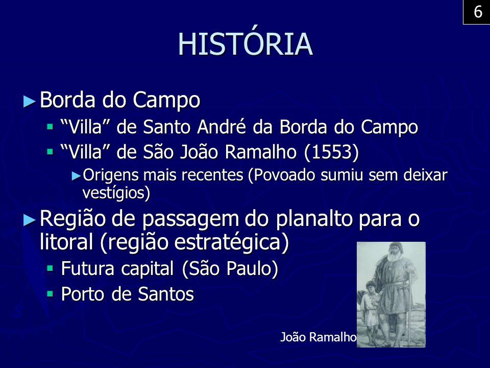 HISTÓRIA Borda do Campo