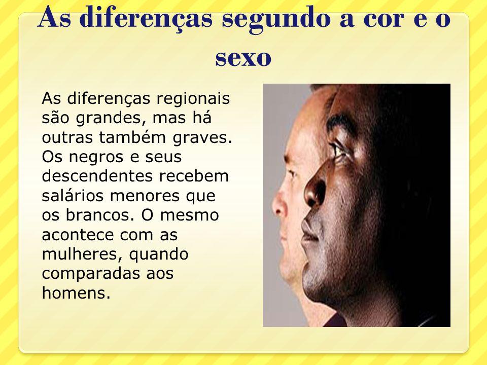 As diferenças segundo a cor e o sexo