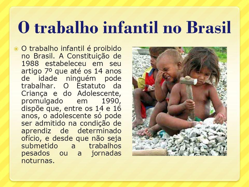 O trabalho infantil no Brasil