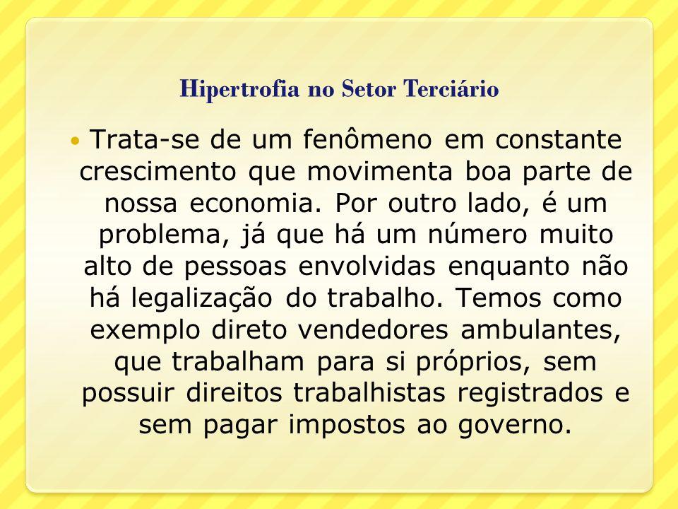 Hipertrofia no Setor Terciário