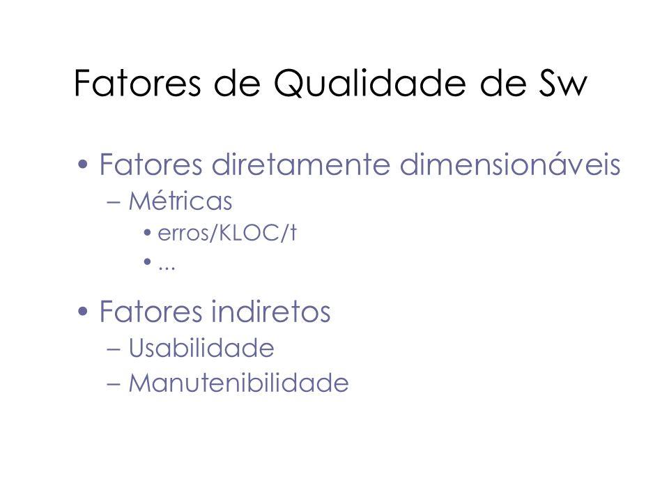 Fatores de Qualidade de Sw