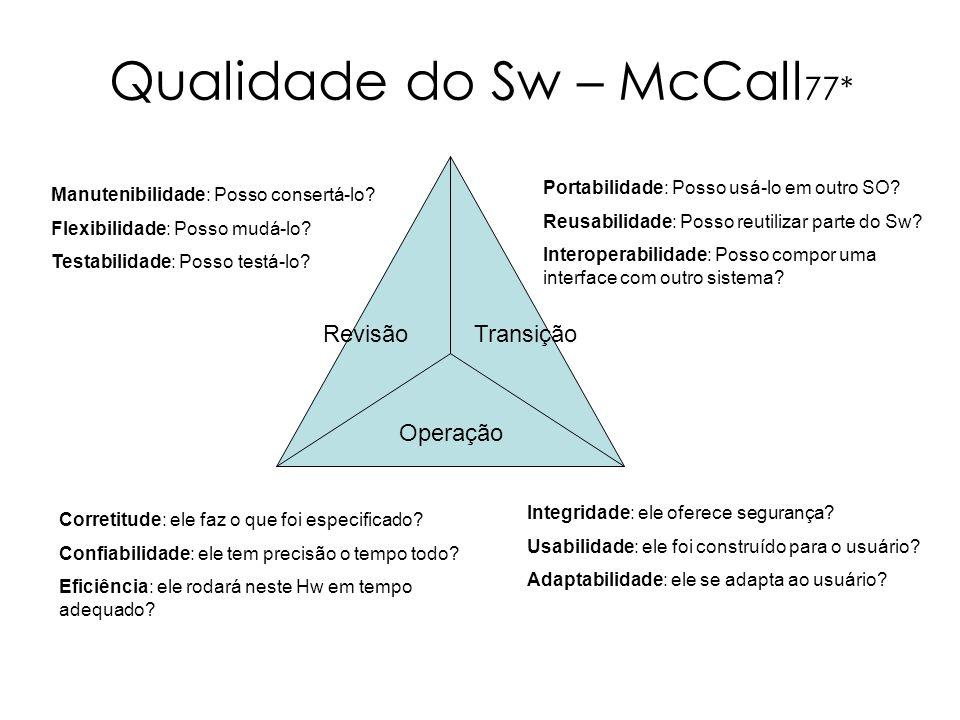 Qualidade do Sw – McCall77*