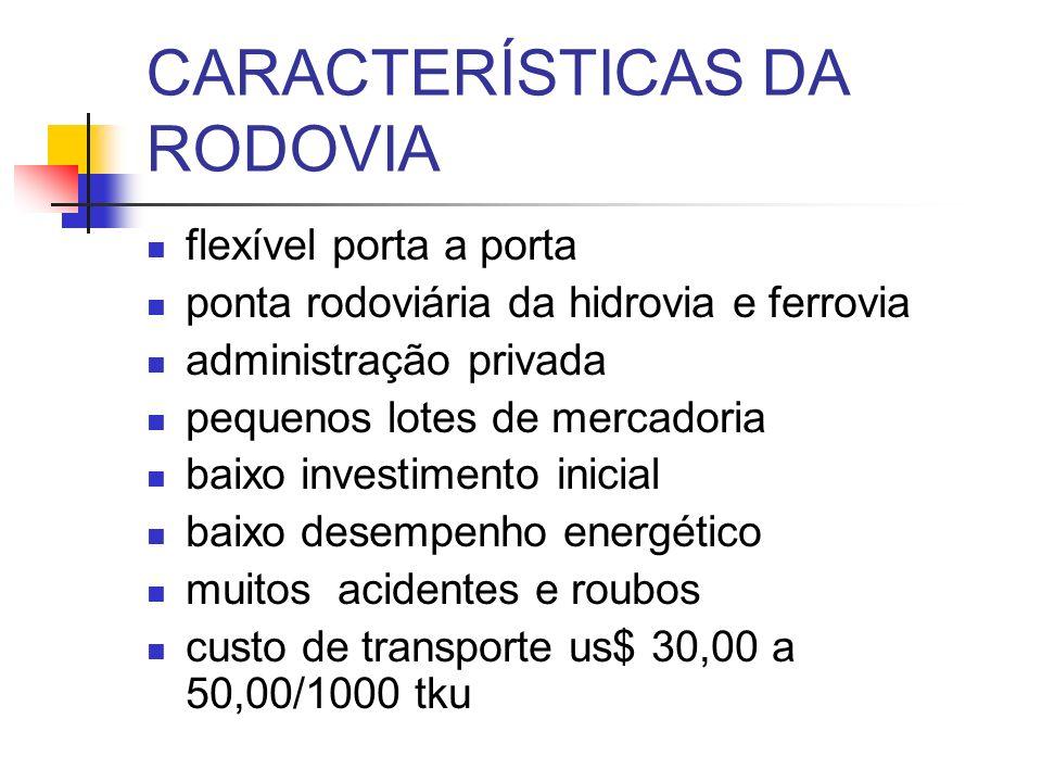 CARACTERÍSTICAS DA RODOVIA