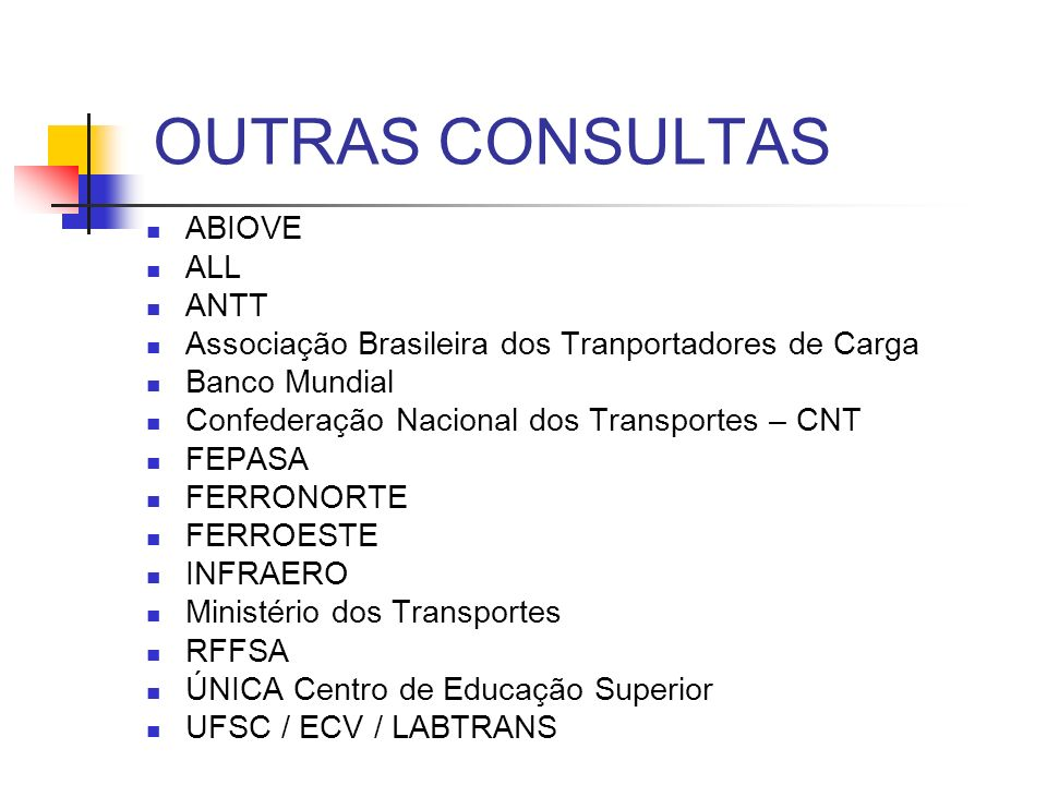 OUTRAS CONSULTAS ABIOVE ALL ANTT