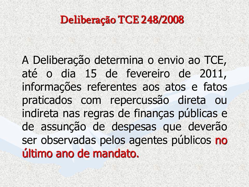 Deliberação TCE 248/2008