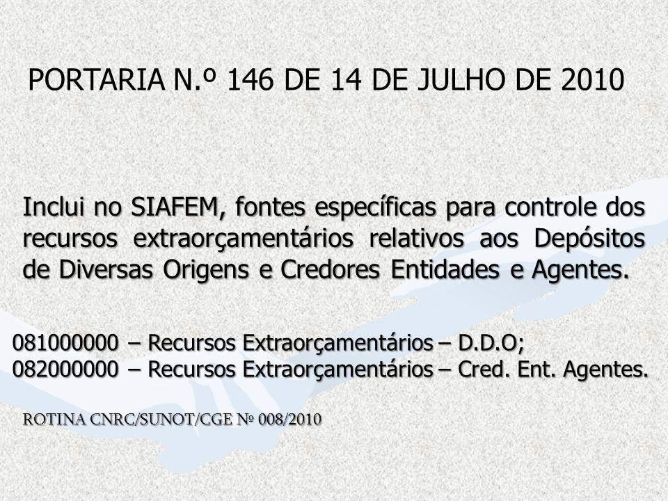 PORTARIA N.º 146 DE 14 DE JULHO DE 2010