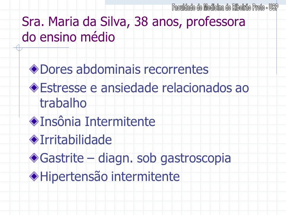 Sra. Maria da Silva, 38 anos, professora do ensino médio