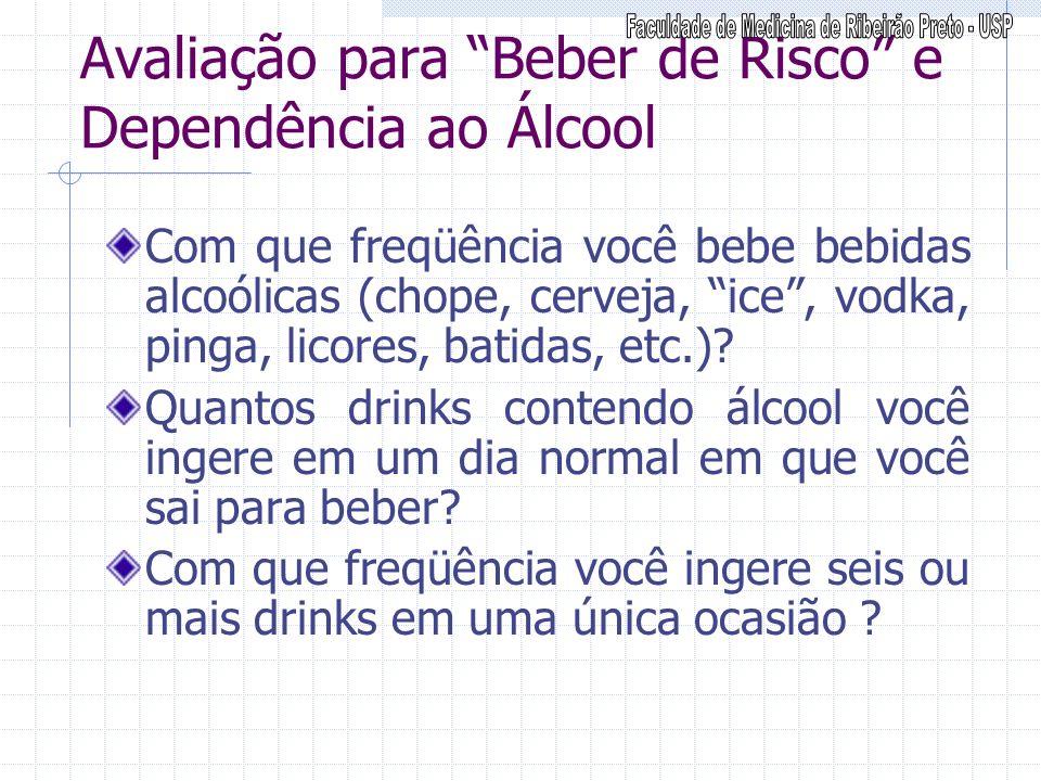 Avaliação para Beber de Risco e Dependência ao Álcool
