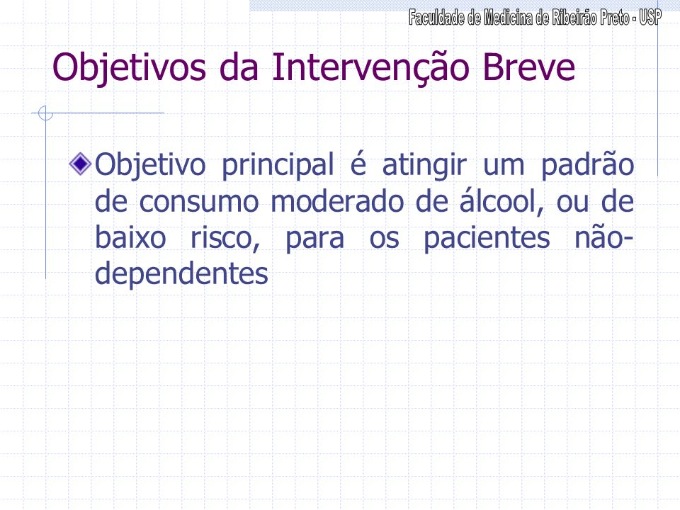 Objetivos da Intervenção Breve