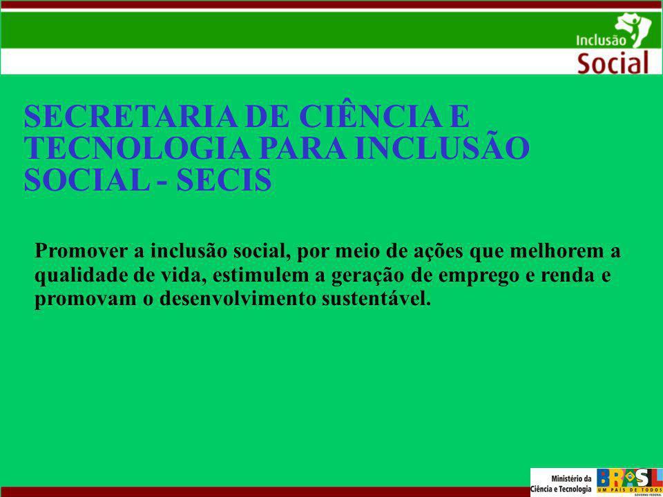 SECRETARIA DE CIÊNCIA E TECNOLOGIA PARA INCLUSÃO SOCIAL - SECIS