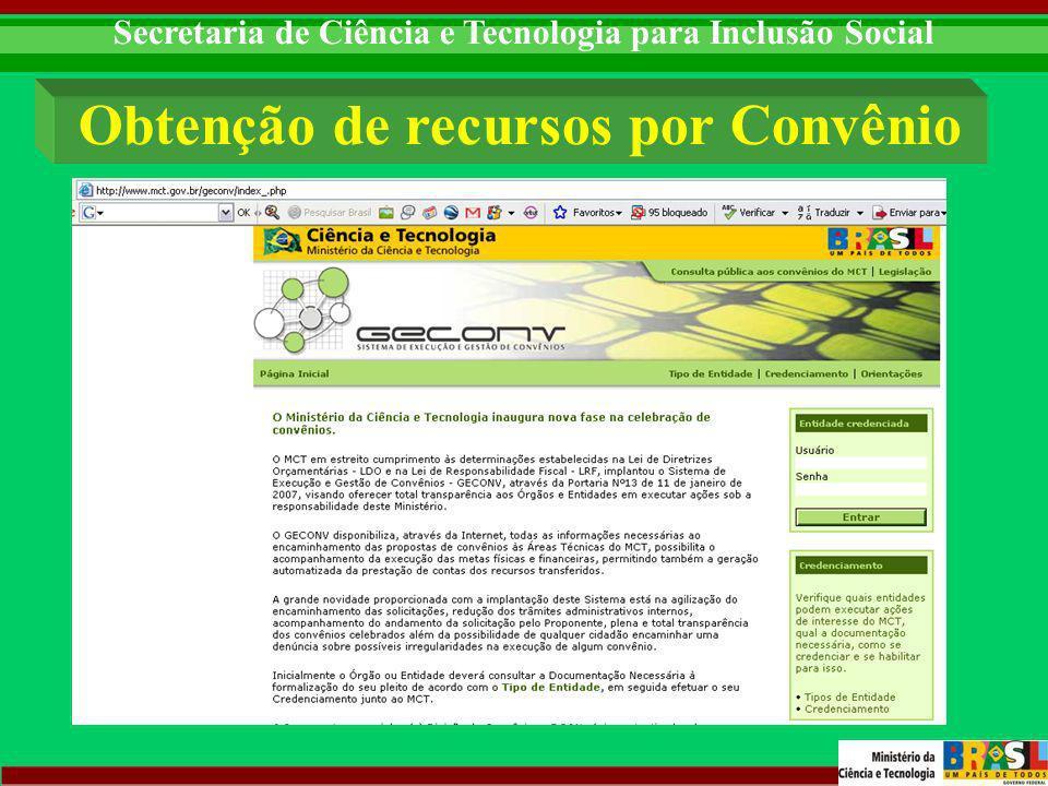 Secretaria de Ciência e Tecnologia para Inclusão Social