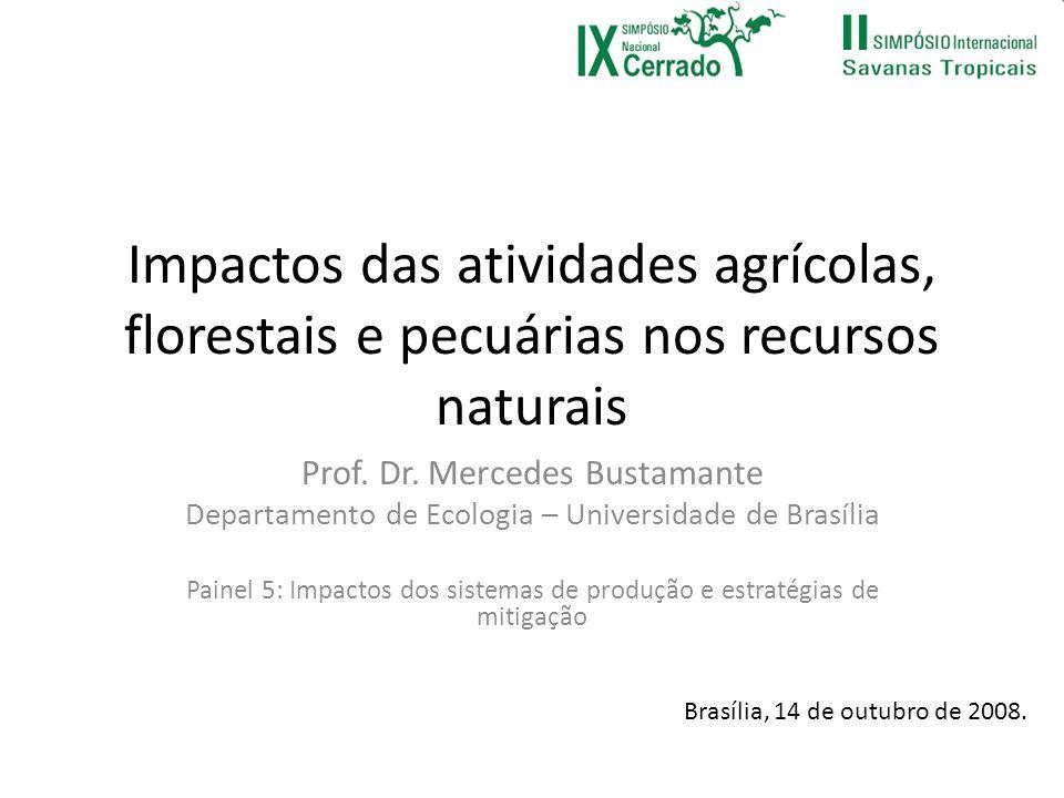 Impactos das atividades agrícolas, florestais e pecuárias nos recursos naturais
