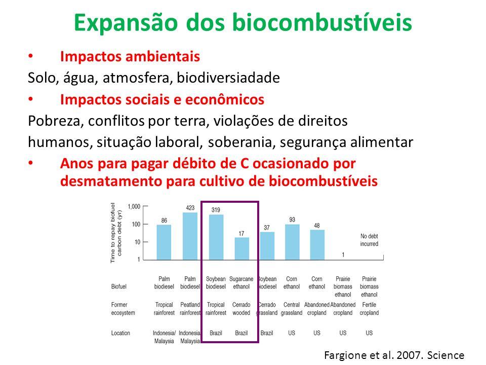 Expansão dos biocombustíveis