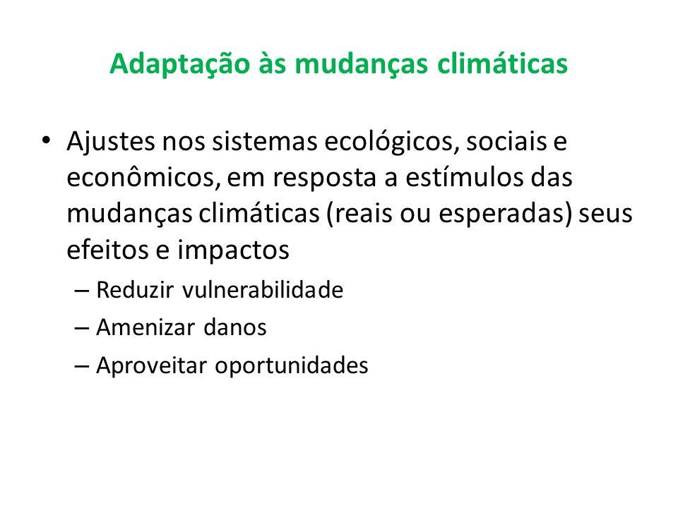 Adaptação às mudanças climáticas
