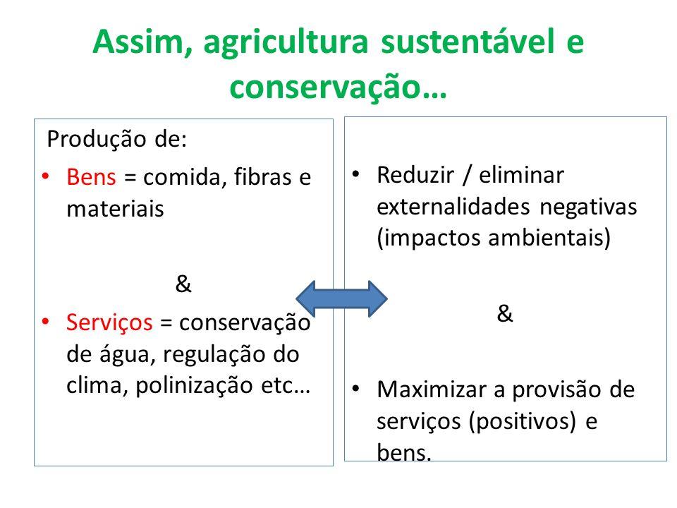 Assim, agricultura sustentável e conservação…