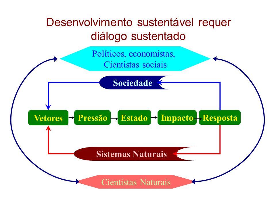 Desenvolvimento sustentável requer diálogo sustentado