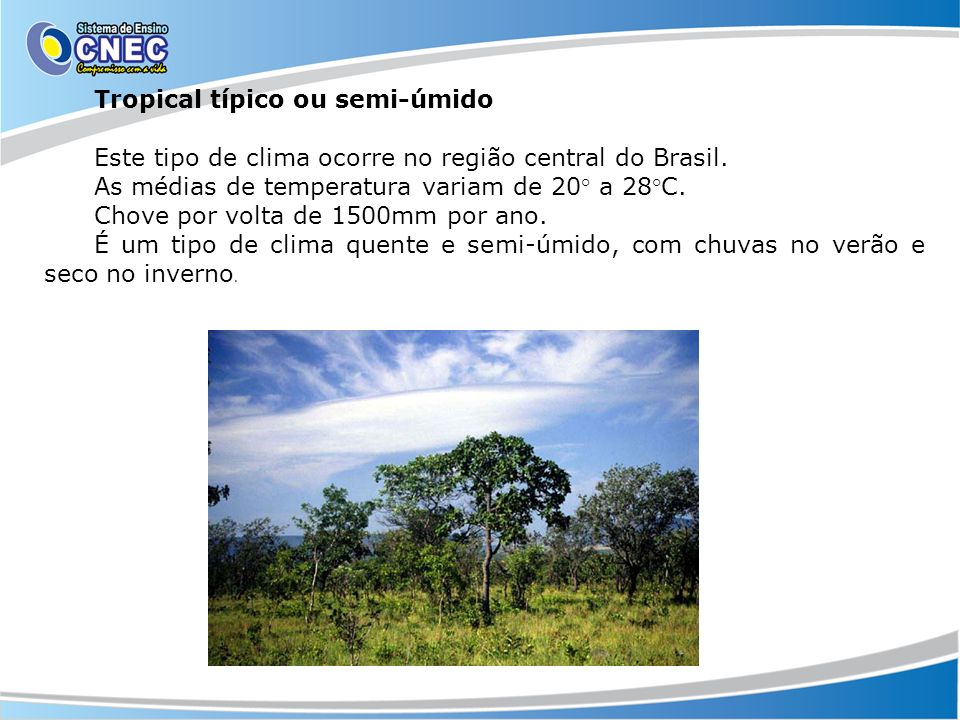 Tropical típico ou semi-úmido