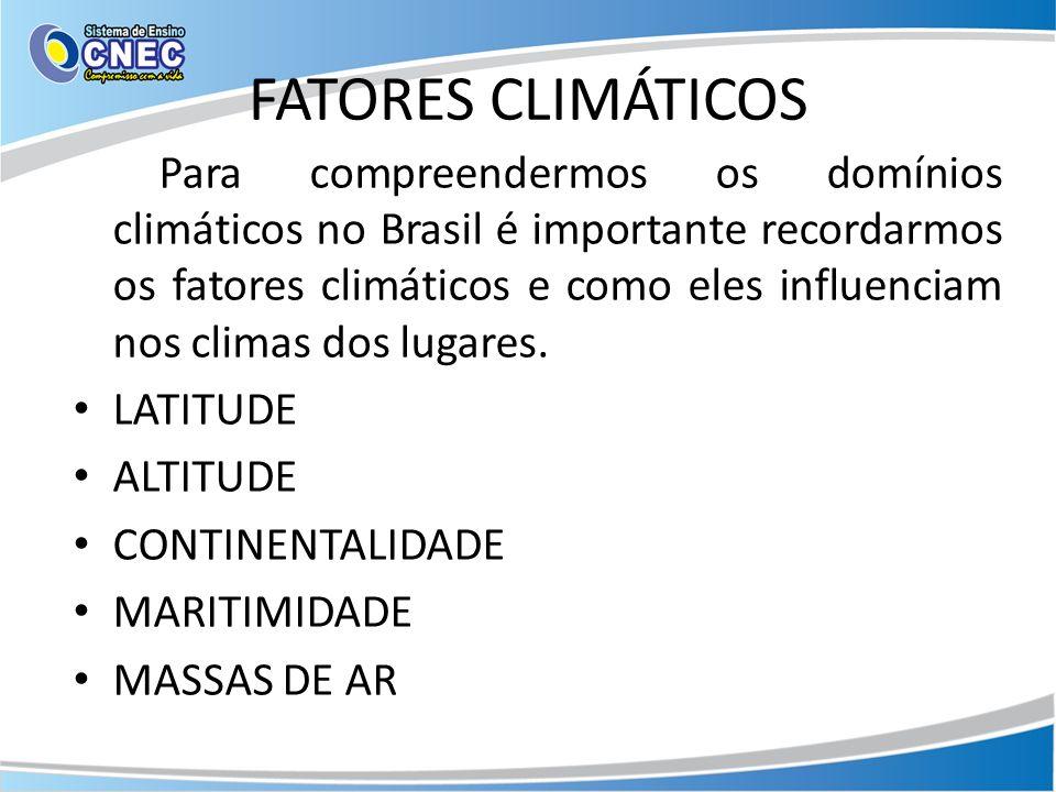 FATORES CLIMÁTICOS