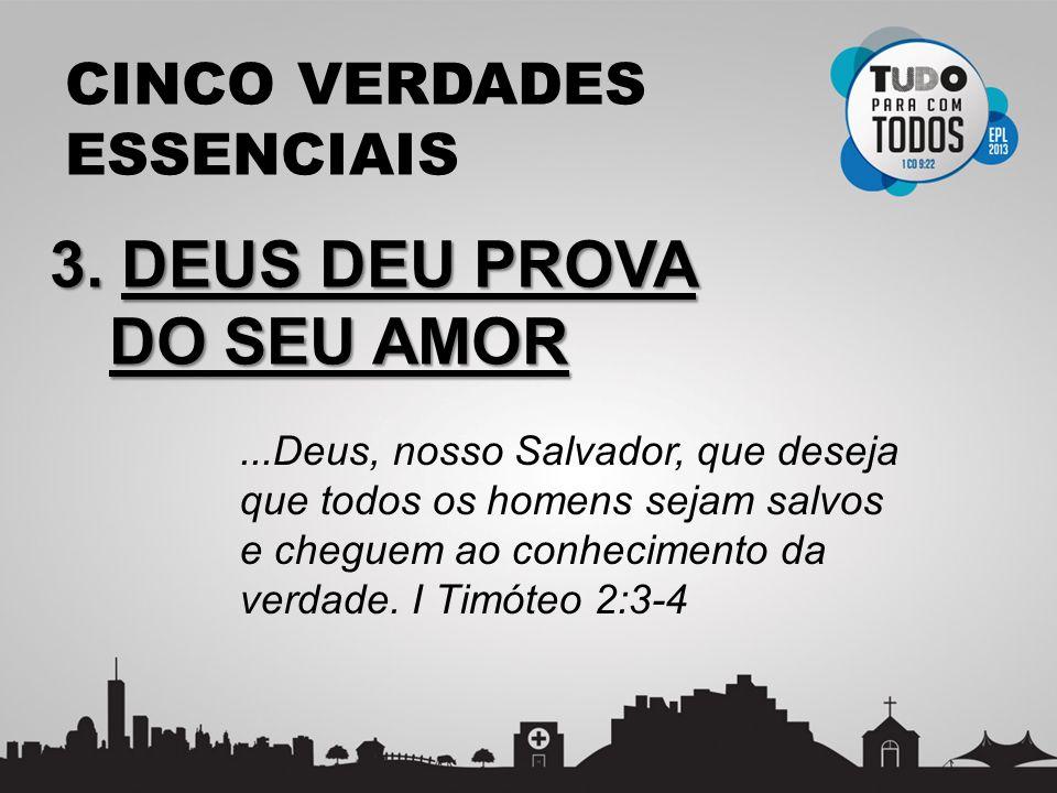 3. DEUS DEU PROVA DO SEU AMOR