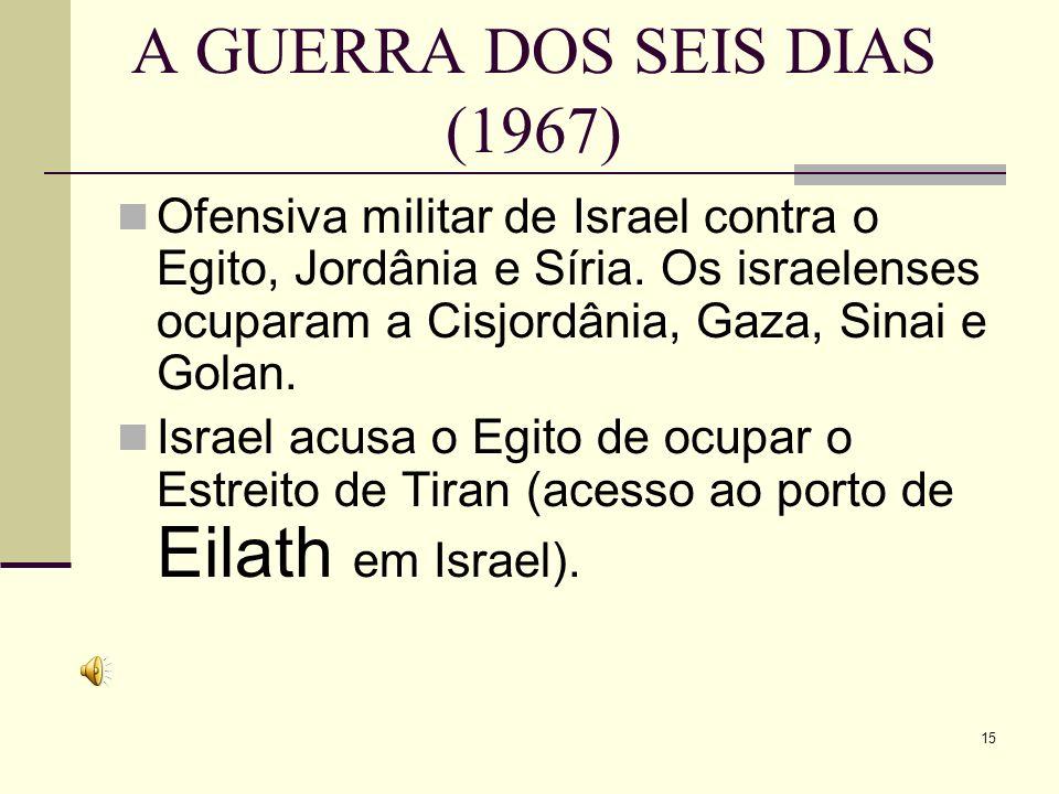 A GUERRA DOS SEIS DIAS (1967)