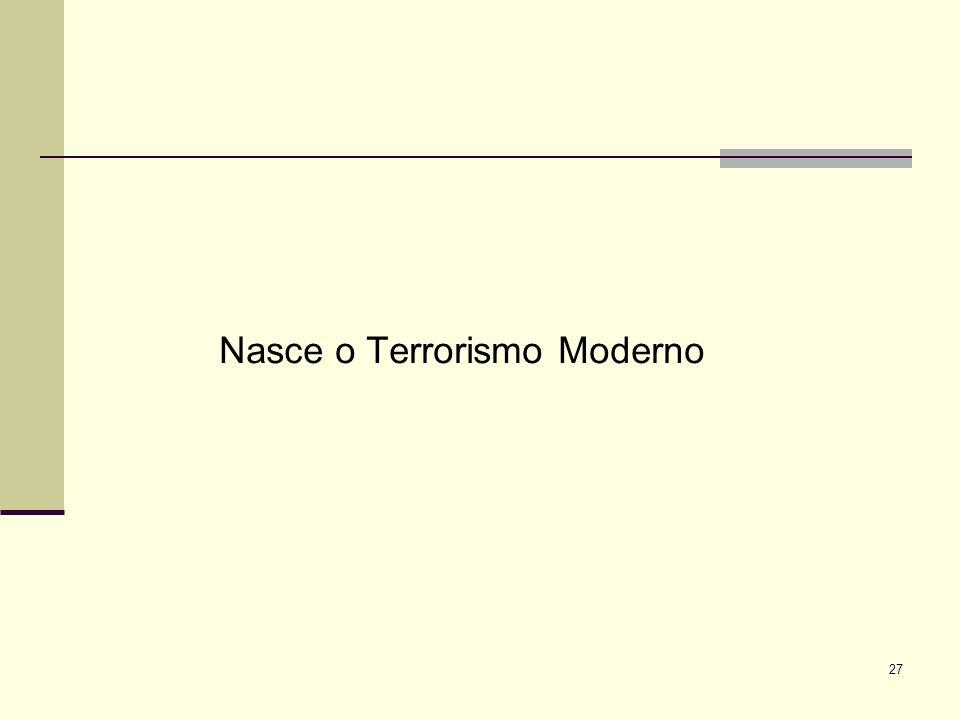 Nasce o Terrorismo Moderno