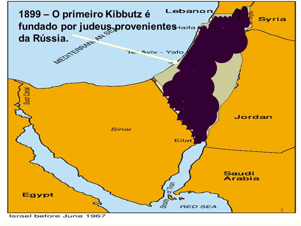 1899 – O primeiro Kibbutz é fundado por judeus provenientes da Rússia.