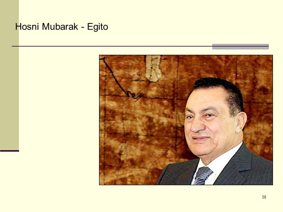 Hosni Mubarak - Egito