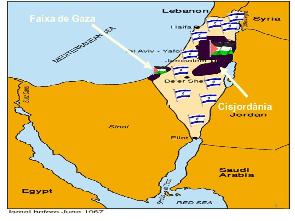 Faixa de Gaza Cisjordânia