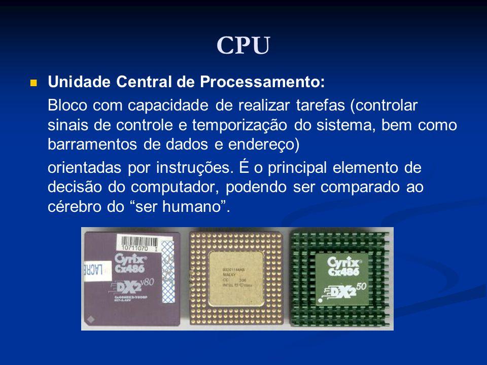 CPU Unidade Central de Processamento: