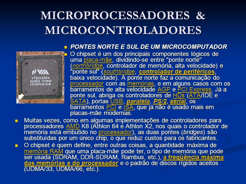 MICROPROCESSADORES & MICROCONTROLADORES