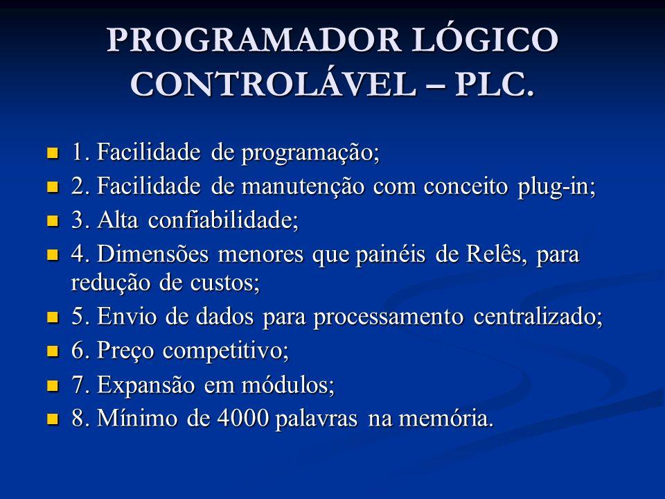 PROGRAMADOR LÓGICO CONTROLÁVEL – PLC.