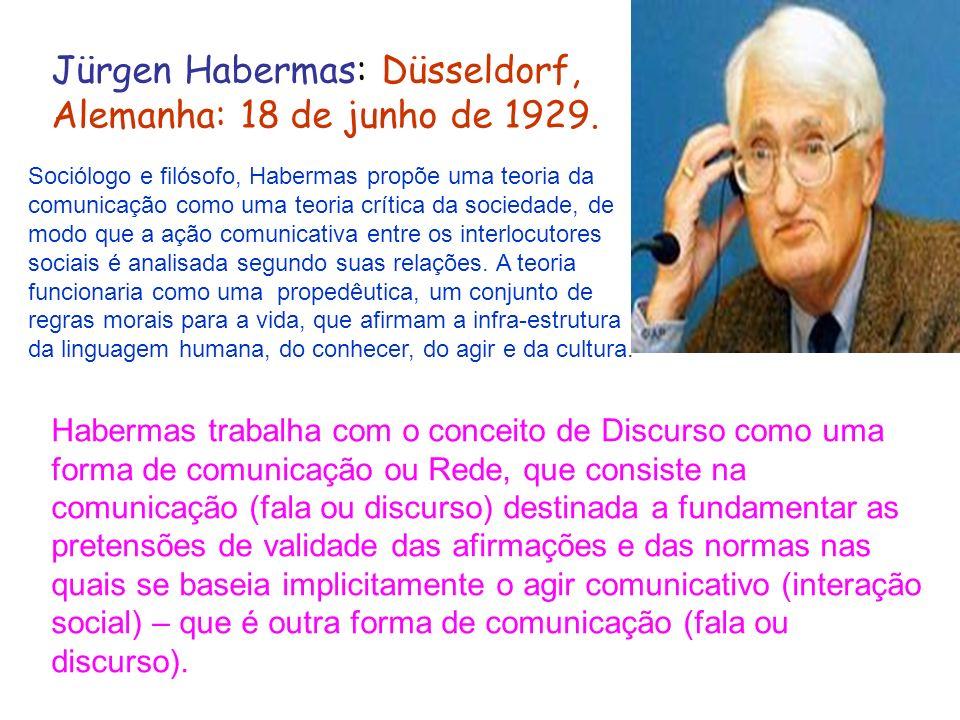 Jürgen Habermas: Düsseldorf, Alemanha: 18 de junho de 1929.