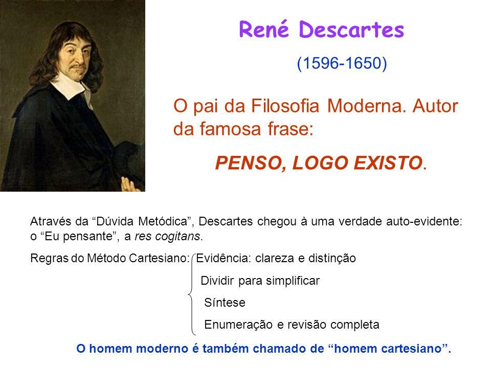 René Descartes O pai da Filosofia Moderna. Autor da famosa frase: