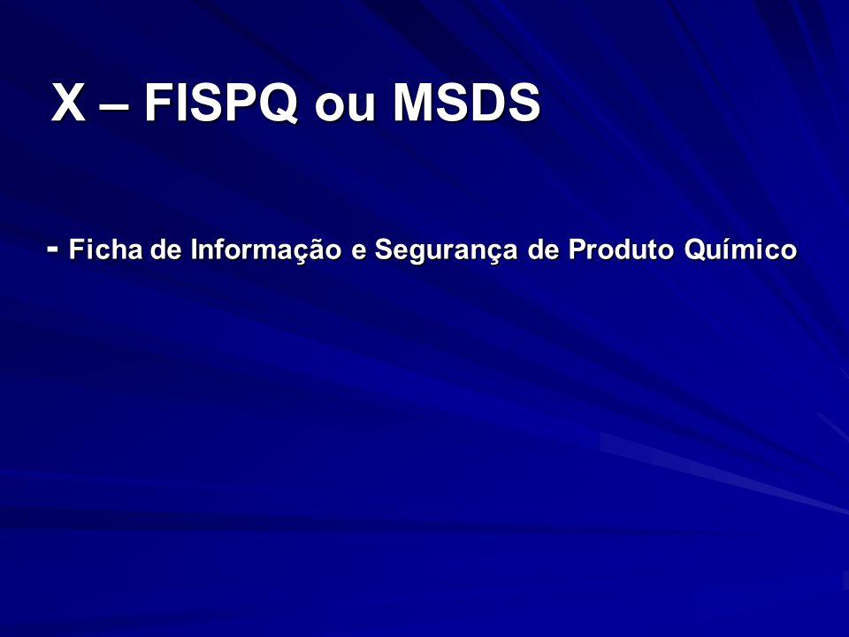- Ficha de Informação e Segurança de Produto Químico