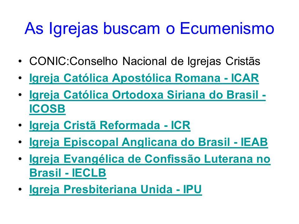 As Igrejas buscam o Ecumenismo