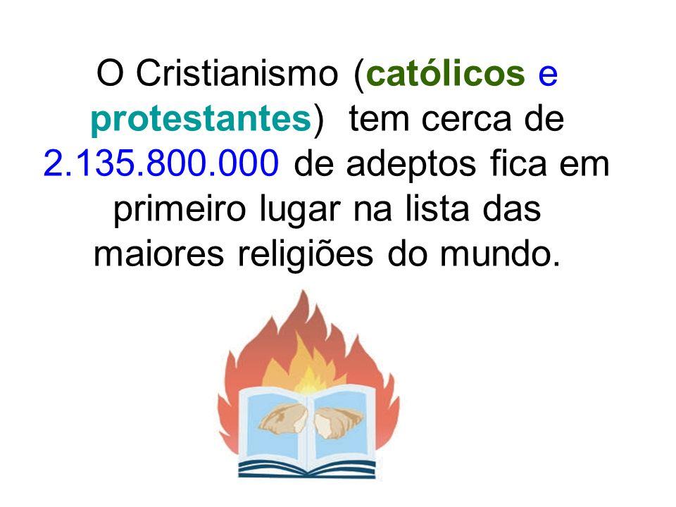 O Cristianismo (católicos e protestantes) tem cerca de 2. 135. 800