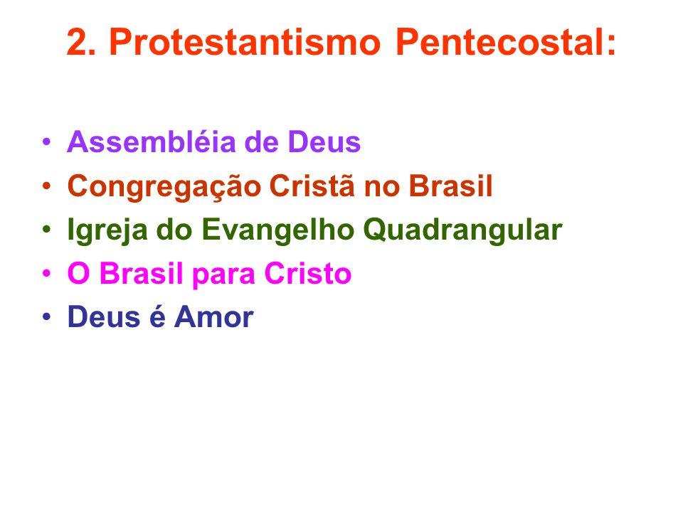 2. Protestantismo Pentecostal: