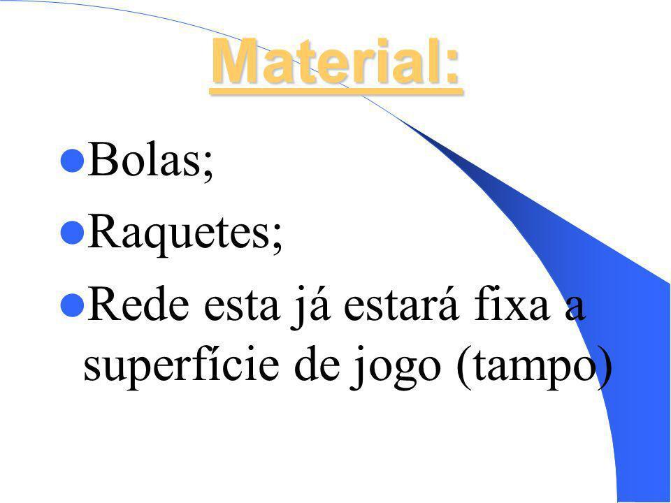 Material: Bolas; Raquetes;