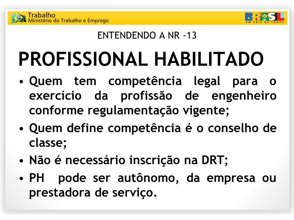 PROFISSIONAL HABILITADO