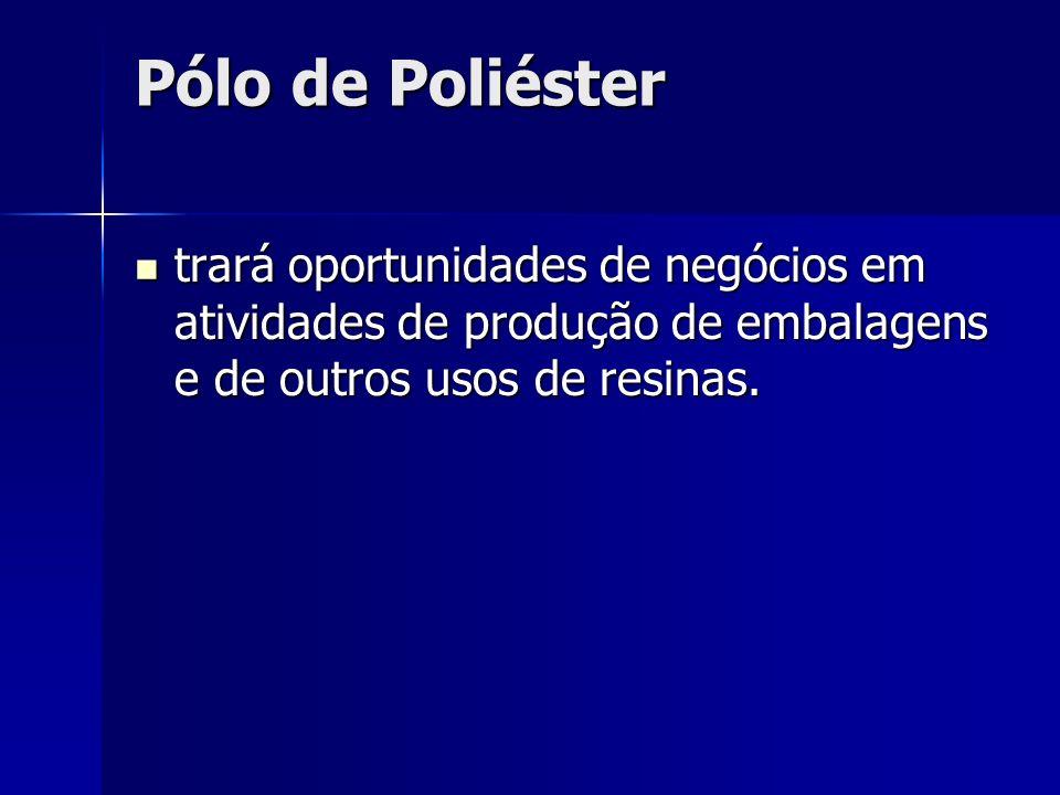 Pólo de Poliéster trará oportunidades de negócios em atividades de produção de embalagens e de outros usos de resinas.